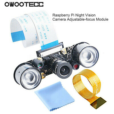 For Raspberry Pi 3B//3B+//4B Zero w Camera Focal Adjustable Night Vision IR Light