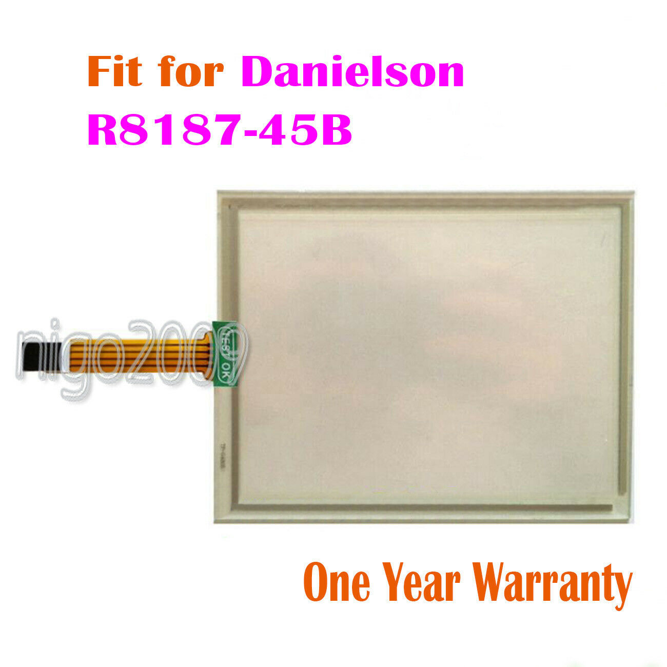 For Danielson R8187-45B  R 8187-45B R8187-45 B  Touch Screen Glass Touch Panel