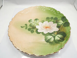 Antique-Limoges-France-B-amp-H-White-Flower-Plate-10-1-4-034