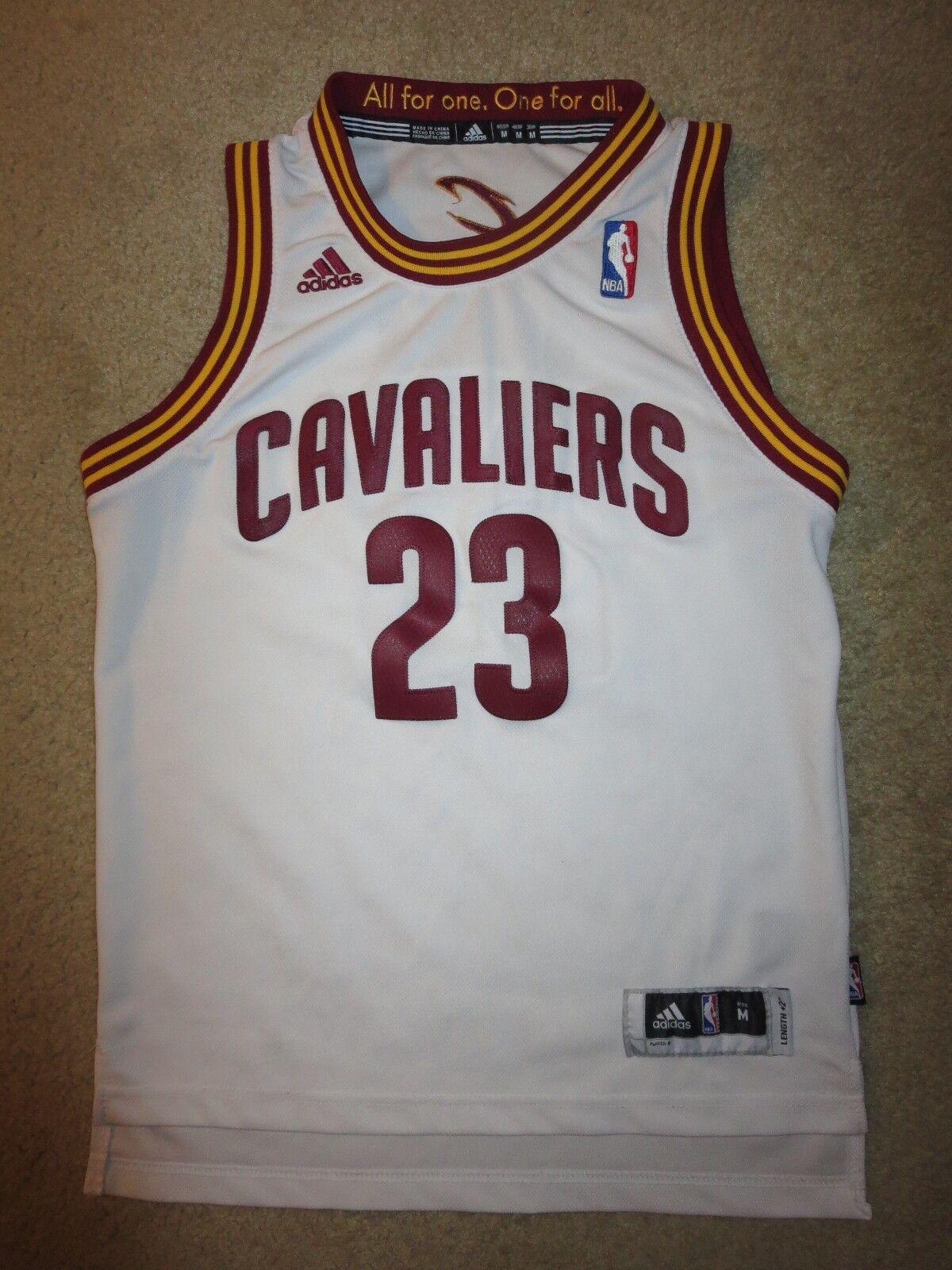 4baa84d674e Lebron James 23 23 23 Cleveland Kavaliere Adidas NBA Finale Trikot  Jugendliche M