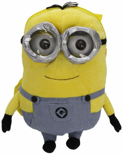OFFICIAL DESPICABLE ME 3D MINIONS PLUSH SOFT TOY SCHOOL BACKPACK SHOULDER BAG