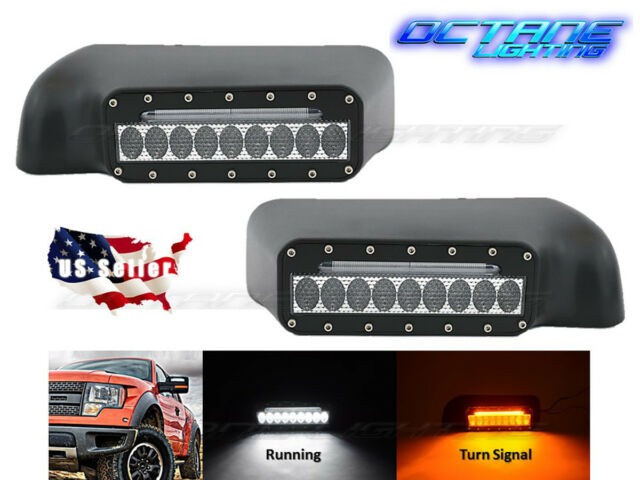 2009-2014 Ford F-150/Raptor Truck Off Road Led Mirror w/Turn Signal Lights PAIR