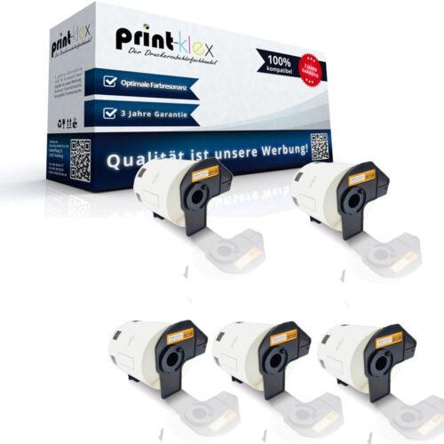 Office L 5x kompatible Label Etiketten Rollen für Brother P-TouchQL1000Series P