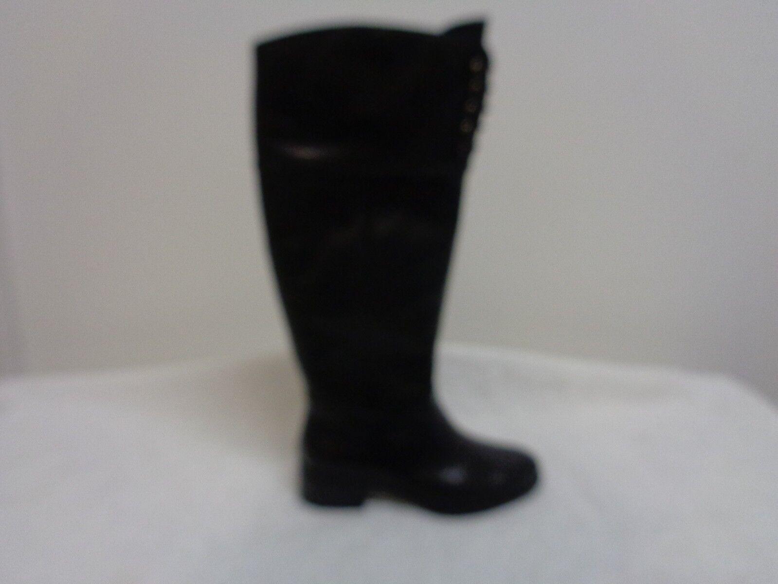 Isaac Mizrahi Leslie  Leather MEDIUM Calf  Riding Boots dark BROWN 5M NEW
