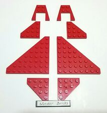 Lego Airplane Wing 8 x 8 Wedge Plate 7665 Red