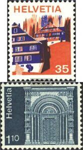 Schweiz-1067-1068-kompl-Ausg-gestempelt-1975-Sondermarken