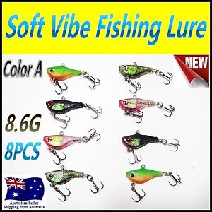 8X-8-6g-4-5cm-Like-Fishing-Soft-Vibe-Lures-Color-A-Bream-Bass-Flathead-Jew
