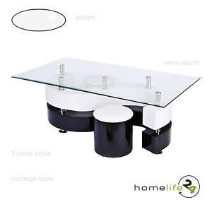 Table-basse-moderne-avec-2-poufs-noir-et-blanc-verre-securit