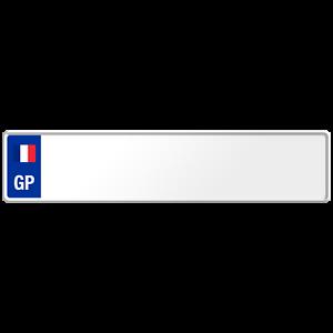 Guadeloupe-Flag-Euro-European-License-Plate-Number-Plate-Custom-Embossed-Alu