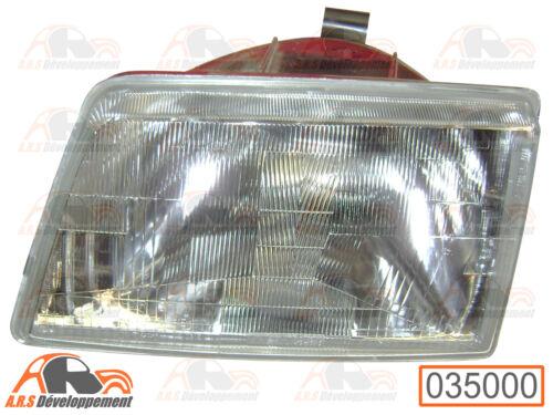 BLOC OPTIQUE avant  gauche pour PEUGEOT 205 GTI 1600 et 1900 tous types 35000