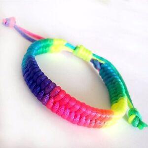 Rainbow Bracelet Wristband Friendship UK Girls Ladies Mens ...