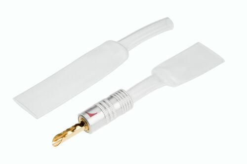 Heat Shrink Tubing Sleeving 9mm Clear  2:1 Ratio Banana RCA Audio Plugs 1 M