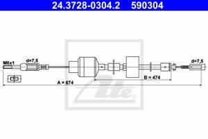 Seilzug Kupplungsbetätigung ATE 24.3728-0304.2