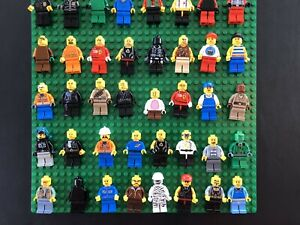 Huge-LEGO-Minifigure-Lot-of-10-Random-City-Town-Ninjago-Police-Fire-Space-amp-More