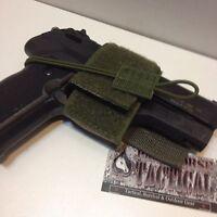 Universal Tactical Pistol Holster W/ Velcro Hook & Loop Molle Vest Chest Rig Odg