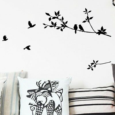 57cm*100cm Bird Branch DIY Removable Vinyl Wall Sticker Decal Mural Home Decor