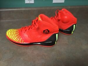 Men-s-Adidas-Rose-3-5-Infrared-Electricity-Orange-Yellow-G59650-Size-12-CON43