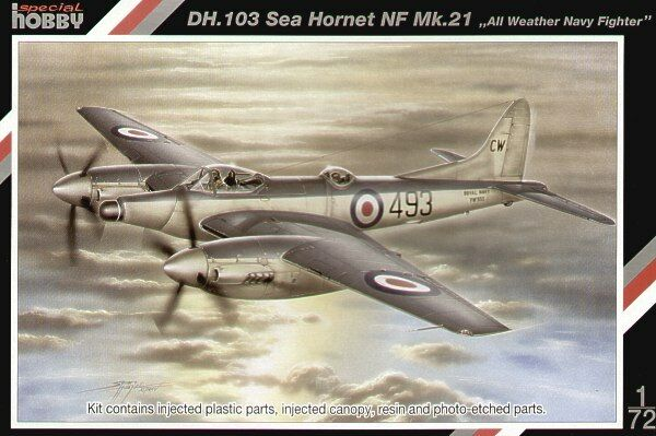 Special Hobby 1 72 DH.103 Sea Hornet NF Mk.21  All Weather Navy Fighter