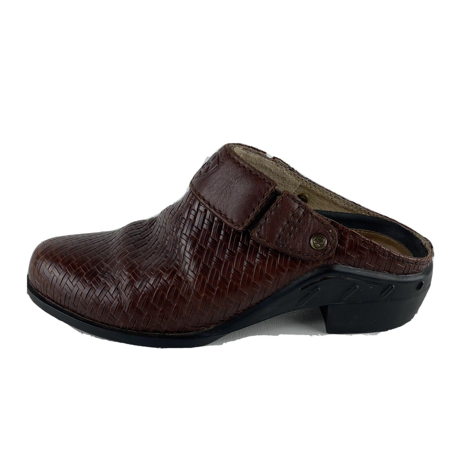 Ariat Women's Woven Patent Leather Mule Slip On Shoes Brown Size EU 36/ US 5.5