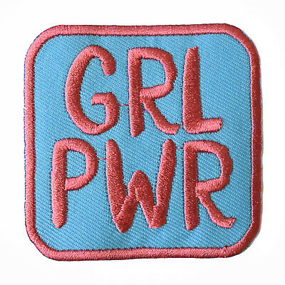 GRL PWR Embroidered Iron On Patch feminism riot grrrl girl power feminist