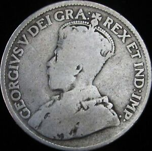 1917-Good-Canada-Silver-25-Cents-KM-24-JG