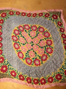 59-Echo-silk-scarf-Pink-with-Multi-color-flowers-Large-Center-k975