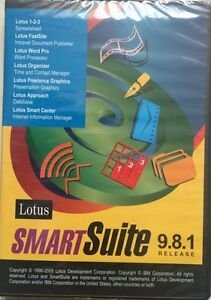 New lotus 123 smartsuite 9. 8. 1 organizer approach word pro for.