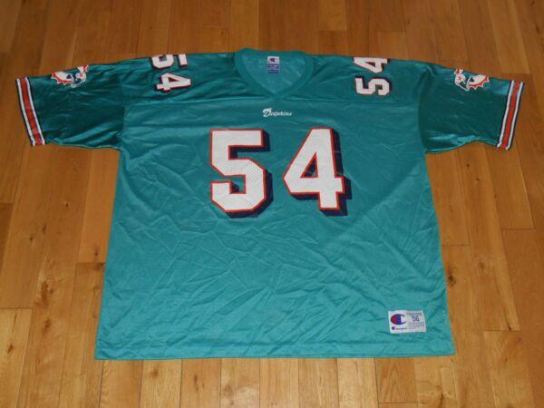 feb6dfad906 Vintage 90s Champion ZACH THOMAS MIAMI DOLPHINS Mens NFL Team Replica JERSEY  56