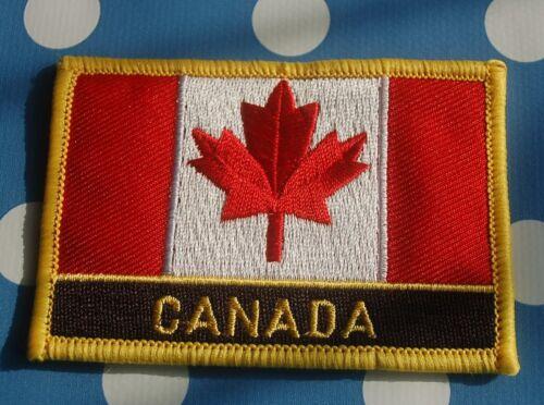 Kanada Aufnäher Aufbügler Patch Schrift Flagge
