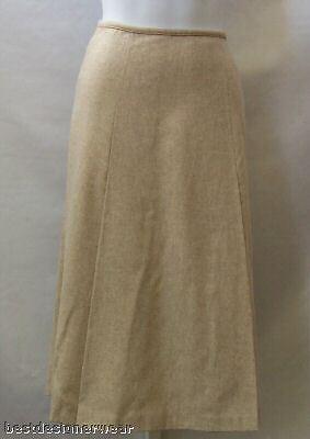 NEW DKNY Womens Skirt Size 8 ALine Pale gold Reg.  295