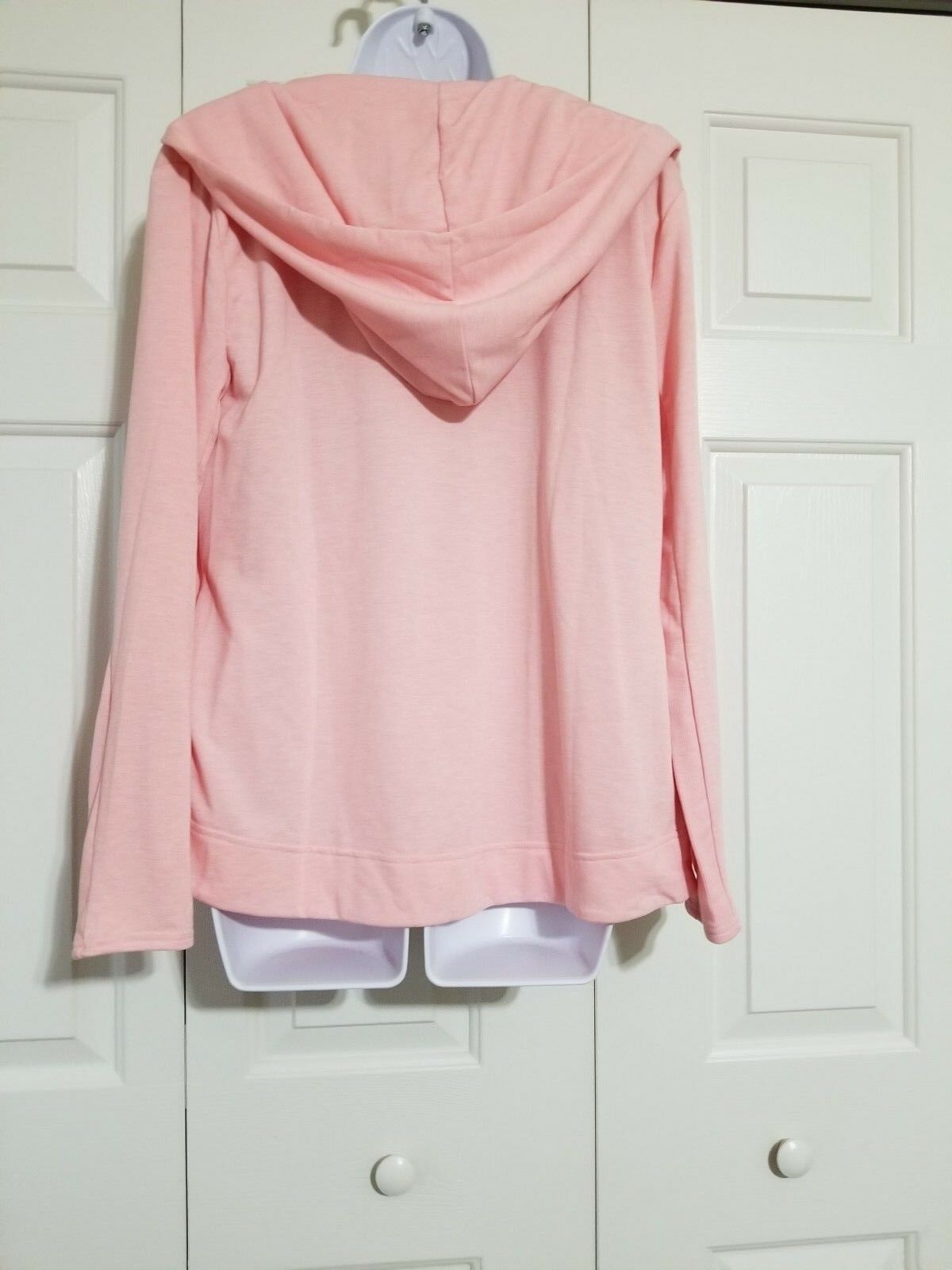 Victoria's Secret Soft Terry Lounge Open Front Front Front Hooded Cardigan Pink Size XS e93592