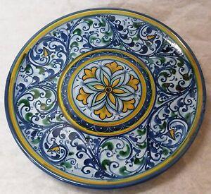 Piatti Ceramica Di Caltagirone.Piatto D Cm 25 Decorato A Mano In Ceramica Di Caltagirone Ebay