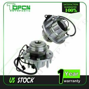 Pair 2 Front Wheel Hub Bearing LH & RH For Ford F-250 F350 SuperDuty 03-04 4WD