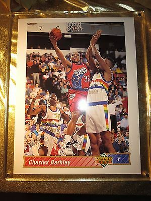 Sporting Goods United Charles Barkley Philadelphia 76ers Upper Deck Ud Authenticated 10x12 Card 9/2500