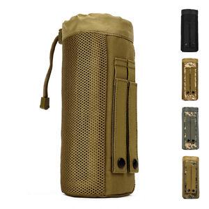 Military Molle Nylon Water Bottle Bag Kettle Camp Men Hip Belt Fanny Waist Pack