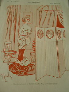 Chez-Tante-Lili-femme-nue-nude-qui-se-deshabille-Gerbault-Print-Art-Deco-1910