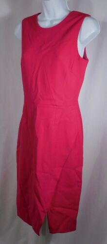 TENBY Raspberry Red Wool Crepe Sleeveless Sheath D