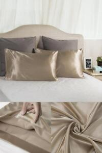 Pillow Cover Satin Set For Hair And Easy To Wash Standard