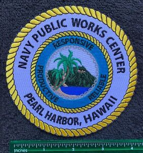 US Military Navy Public Works Center Pearl Harbor, Hawaii Navy Military Patch