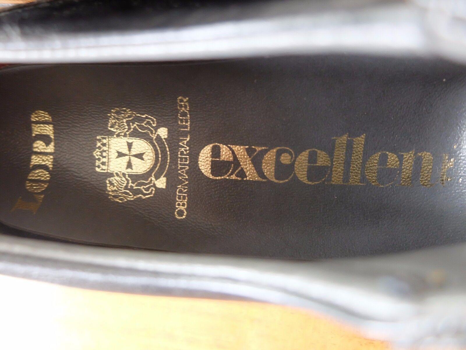 Lord Excellent Scarpe Uomo Tg 42 42 42 NERO PELLE Schnürschuh True Vintage | una vasta gamma di prodotti  fbe70a