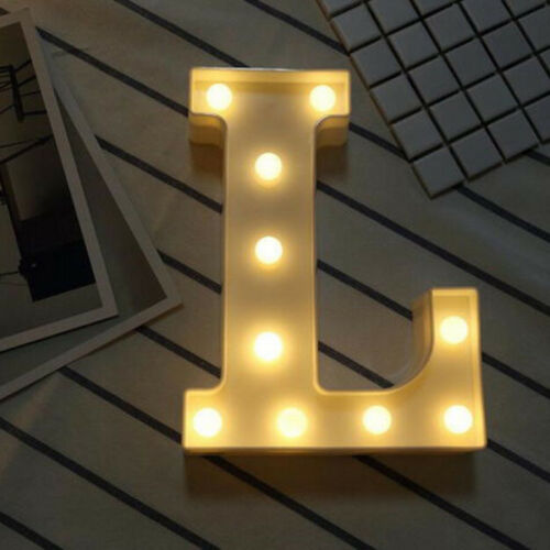 0-9//A-Z Letter Lights LED Lamp Up Standing Hanging Light for Wedding Home Party^