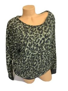 NWT-victoria-s-Secret-PINK-long-Sleeve-Camouflage-Off-The-Shoulder-Sweatshirt-XS