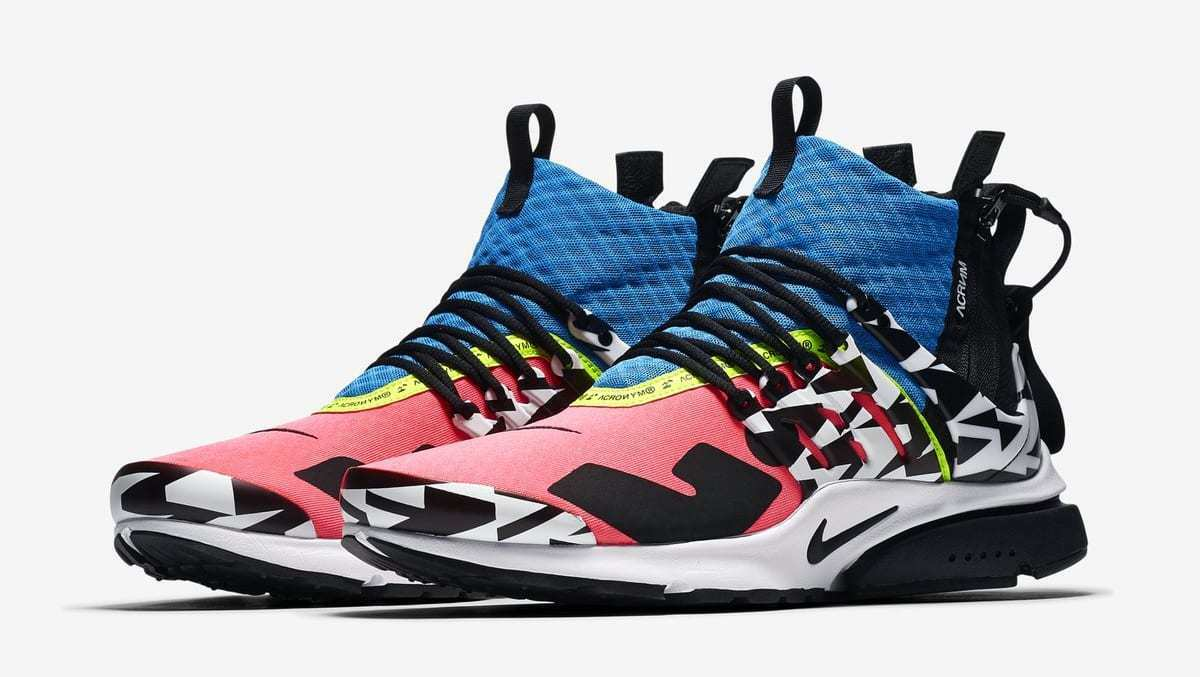 Nike Air Presto Mid Utility X Acronym Men's Racer Pink AH7832-600 Size  10