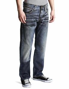 Nudie-Herren-Regular-Fit-Jeans-Hose-Average-Joe-Black-Coated-B-WARE
