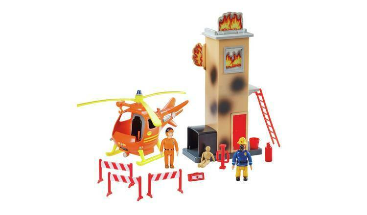 Fireman Sam Training Tower Playset Training Tower With Flip Up Fire Features NEW