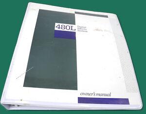 original lexicon 480l digital effects system owner s manual in 3 rh ebay com Lexicon 480L Reverb lexicon 480l manual deutsch
