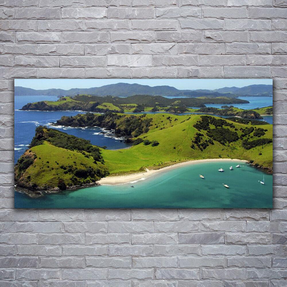Wandbilder Glasbilder Druck auf Glas 120x60 Meer Strand Wald Landschaft