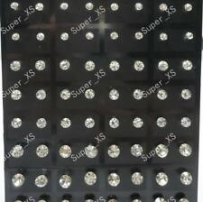 72pcs Wholesale Jewelry Lots Stainless Steel Fashion Rhinestone Stud Earrings