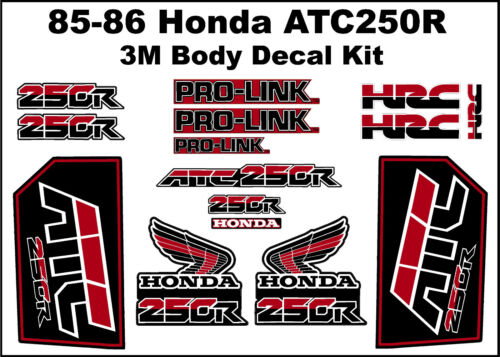 BIG SALE Decal Kit for a 85-86 Honda ATC 250r 3-wheeler    ATC250r ATC 250r
