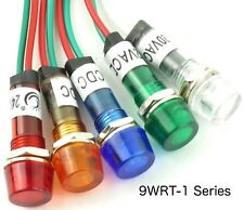 10 Piece Yuco YC-9WRT-1G-24-10 LED Indicator Miniature Pilot Light 24V AC or DC 9mm Green